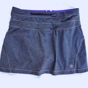 Athleta S skirt built in shorts skort zip pocket